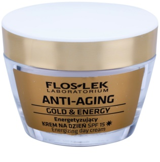 FlosLek Laboratorium Anti-Aging Gold & Energy creme de dia energizante SPF 15