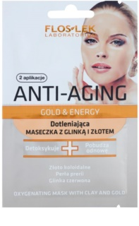 FlosLek Laboratorium Anti-Aging Gold & Energy Oxidising Mask with Gold and Clay