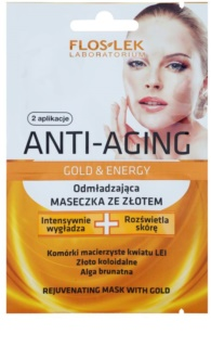 FlosLek Laboratorium Anti-Aging Gold & Energy omladzujúca maska so zlatom