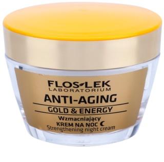 FlosLek Laboratorium Anti-Aging Gold & Energy crema notte rinforzante