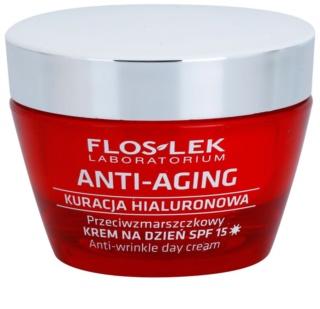 FlosLek Laboratorium Anti-Aging Hyaluronic Therapy денний зволожуючий крем проти  старіння шкіри SPF 15