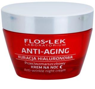 FlosLek Laboratorium Anti-Aging Hyaluronic Therapy noćna hidratantna krema s učinkom protiv bora