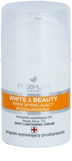 FlosLek Pharma White & Beauty creme branqueador para tratamento local