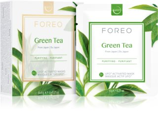 FOREO Farm to Face Green Tea Verfrissende en Kalmerende Masker