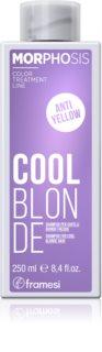 Framesi Morphosis Cool Blonde šampón neutralizujúci žlté tóny pre studené odtiene blond