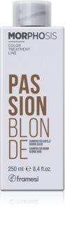 Framesi Morphosis Passion Blonde șampon pentru nuante calde de blond