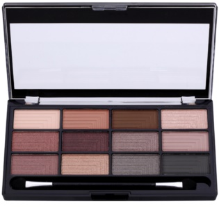 Freedom Pro 12 Stunning Smokes Eyeshadow Palette with Applicator