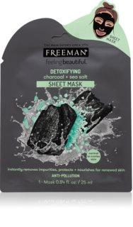 Freeman Feeling Beautiful detoxikační plátýnková maska s aktivním uhlím