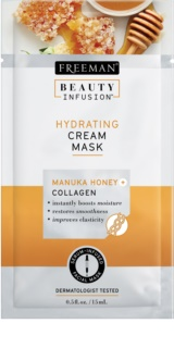 Freeman Beauty Infusion Manuka Honey + Collagen maschera crema idratante per pelli normali e secche