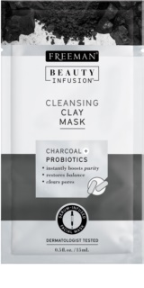 Freeman Beauty Infusion Charcoal + Probiotics máscara facial de argila para limpeza