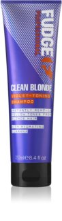 Fudge Care Clean Blonde champú violeta matificante para cabello rubio