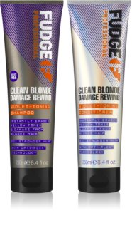 Fudge Clean Blonde Damage Rewind lote cosmético (para cabello rubio)