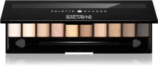 Gabriella Salvete Eyeshadow 10 Shades Palette akių šešėlių paletė su veidrodėliu ir aplikatoriumi