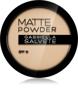 Gabriella Salvete Matte Powder matinė pudra SPF 15