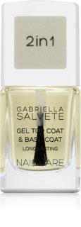 Gabriella Salvete Nail Care Top & Base Coat base e top coat per unghie con texture in gel
