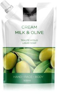 Gabriella Salvete Liquid Soap Cream Milk & Olive savon liquide visage, mains et corps
