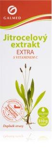 Galmed Jitrocel EXTRA s vit. C bylinný sirup s vyšším obsahem jitrocelového extraktu pro léčbu zánětů horních cest dýchacích