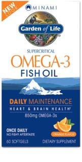 Garden of Life Minami Nutrition Omega 3 EPA-DHA doplněk stravy  pro normální činnost nervové soustavy příchuť orange