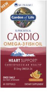 Garden of Life Minami Cardio Omega 3 doplněk stravy  pro podporu činnosti nervové soustavy příchuť orange
