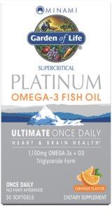 Garden of Life Minami Platinum Omega 3 doplněk stravy  pro normální činnost nervové soustavy příchuť orange
