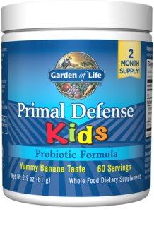 Garden of Life Primal Defense Kids komplexní probiotikum pro děti příchuť banana