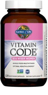 Garden of Life RAW Vitamin Code pro ženy po padesátce komplexní multivitamín  pro ženy 50+