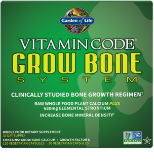 Garden of Life Vitamin Code Grow Bone System pro správný růst kostí