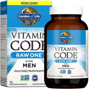 Garden of Life RAW Vitamin Code One for Men komplexní multivitamín  pro muže