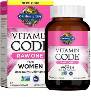 Garden of Life RAW Vitamin Code One for Women komplexní multivitamín  pro ženy