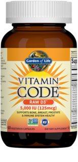 Garden of Life Vitamin Code RAW D3 5000 I.U. doplněk stravy  pro podporu imunitního systému