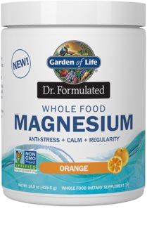 Garden of Life Dr. Formulated Magnesium doplněk stravy  s vysokým obsahem hořčíku příchuť orange