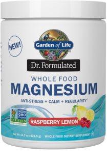 Garden of Life Dr. Formulated Magnesium doplněk stravy  s vysokým obsahem hořčíku příchuť raspberry & lemon