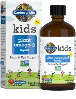 Garden of Life Kids  Plant Omega 3 Liquid doplněk stravy  pro děti příchuť strawberry
