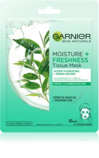 Garnier Skin Naturals Moisture+Freshness extra feuchtigkeitsspendende reinigende Textil-Maske für normale Haut und Mischhaut