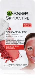 Garnier Skin Active maschera viso riscaldante ai minerali vulcanici e all'argilla per restringere i pori