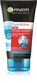 Garnier Pure Active 3-in-1 Black Face Mask with Activated Charcoal for Blackheads and Acne