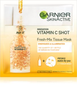 Garnier Skin Naturals Fresh Mix Mask Vitamin маска  за суха кожа