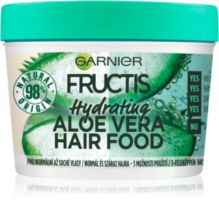 Garnier Fructis Aloe Vera Hair Food mascarilla hidratante para cabello normal y seco
