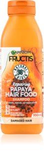 Garnier Fructis Papaya Hair Food regeneračný šampón pre poškodené vlasy