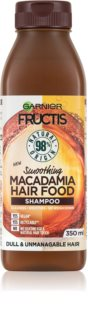 Garnier Fructis Macadamia Hair Food champú regenerador para cabello maltratado o dañado