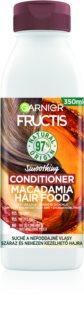 Garnier Fructis Macadamia Hair Food balsam cu efect de netezire pentru par uscat si indisciplinat