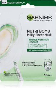 Garnier Skin Naturals Nutri Bomb Nährende Tuchmaske mit Mandelmilch