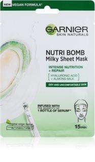 Garnier Skin Naturals Nutri Bomb подхранваща платнена маска за суха кожа