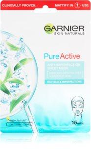 Garnier Skin Naturals Pure Active тканевая маска с очищающим эффектом