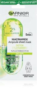 Garnier Skin Naturals Ampoule Sheet Mask plátýnková maska s čisticím a osvěžujícím účinkem