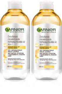 Garnier Skin Naturals dwufazowy płyn micelarny (wygodne opakowanie)