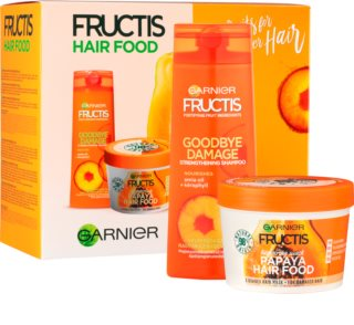 Garnier Fructis Papaya Hair Food Cosmetic Set I. (For Damaged Hair)