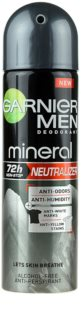 Garnier Men Mineral Neutralizer antitranspirante en spray anti-manchas blancas