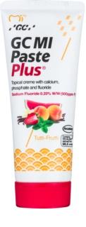 GC MI Paste Plus Tutti-Frutti Skyddande åter-mineraliserande kräm för känsliga tänder med fluor
