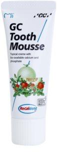 GC Tooth Mousse Melon Skyddande åter-mineraliserande kräm för känsliga tänder utan fluor